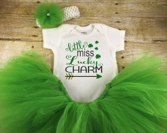 Baby Girl St Patrick's Day Outfit - St Pattys Day Outfit - 1st St Patricks -First St Patrick Day -Baby St Patrick Tutu - St Patrick's Outfit