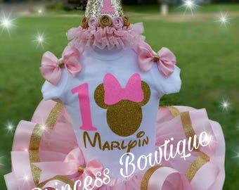 Minnie tutu, minnie gold tutu,  minnie mouse tutus, pink and gold tutus,  minnie pink and gold, minnie mouse