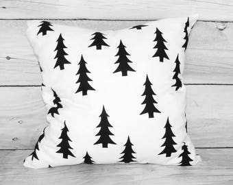 Bed pillow cases, Pillow covers, Decorative pillows, Pillow cases for kids, Monochrome cover, black  white, sham pillow cover, nursery decor