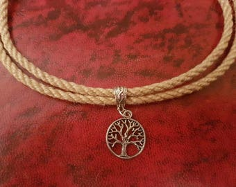 Rope necklace tree of life day collar bdsm