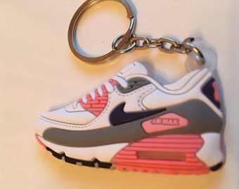 Nike Air Max Keychain of sneaker Keychain White Pink Pink