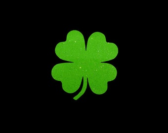 Glitter Shamrock Vinyl Decal perfect for your car, tumbler, or laptop! Perfect for St. Patricks Day!