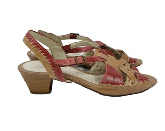 Vintage Sandals K by Clarks in Brown Size 8 - 1990s - Very Good Condition - Free Postage