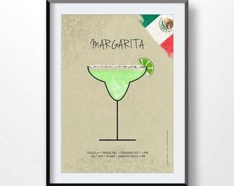 Margarita poster | Etsy