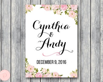 Personalized Welcome sign, Engagement Welcome Sign, Wedding Welcome sign, Wedding Sign, Wedding Sign, Personalized wedding sign WD67 TH18