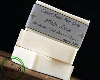 Plain Jane Bar Soap, Vegan Soap, Unscented Soap, Plain Soap, Dye Free Soap, Fragrance Free Soap, Bar Soap, Hand Soap, Natural Soap