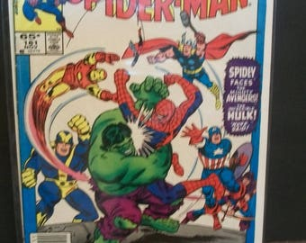 1985 Marvel Tales Starring Spider-Man #181  Spider-Man Vs The Avengers Reprint ASM  Annual 3 Good Cover Creases Vintage Marvel Comic Book