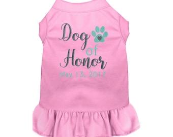 Dog of Honor Wedding Dress -Custom Dog Wedding Clothes - Bridesmaid - Wedding Dog Tee - Marriage Shirt - Dog Bridesmaid Dress - Dog Proposal