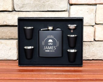 15 Flasks Gift Set, Groomsmen Gifts, Personalized Flasks, Custom Flasks, Engraved Flasks, Groom Gift, Flask, Custom Groomsmen Flask