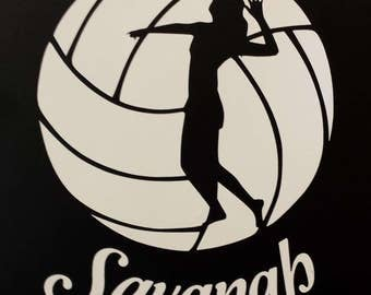 Volleyball Decal Etsy - Custom car decals nz   how to personalize