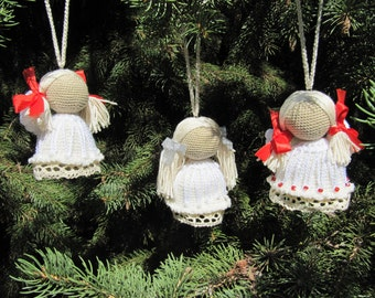 rustic christmas ornaments handmade christmas gift christmas tree decor christmas decor merry christmas decoration christmas angel happy set