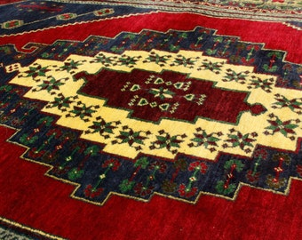 Large 5'2''x9'8'' Cr1900-1939s Antique Multi-Colored,Wool Pile Area Rug Turkey