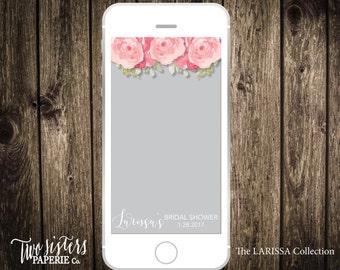 Bridal Shower Snapchat Filter - LARISSA Collection - Floral Snapchat Filter - Bridal Shower Geofilter - Snapchat Geofilter