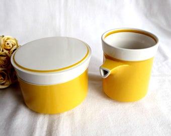 Mikasa Creamer and Sugar Bowl, Mid Century Modern Decor, Retro Creamer and Sugar Bowl, Retro Kitchen, Retro Chic Decor