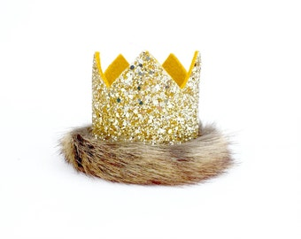 Max crown - Where the Wild Things Are Birthday hat - Gitter Crown - King of the Jungle Birthday - beast birthday - Photo Prop Gift