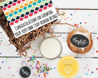 Mini Congratulations on Growing Your Very Own Tiny Human Being Gift Box - Congratulations Gift | New Parents | New Baby Gift | New Mom Gift