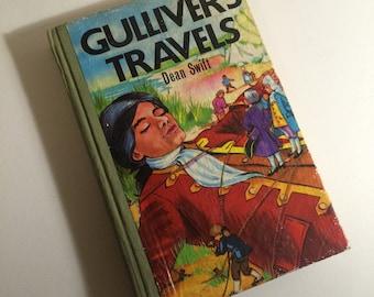 Vintage Gullivers Travels Childrens Book - Dan Swift - 1971 Colour Hardback. Nursery / Childs Room Decor.