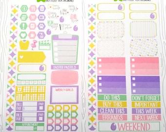 Easter Pastels // Personal Planner Weekly Kit (Set of 63) Item #449