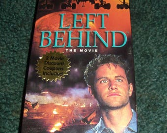 Left  Behind - The Movie VHS Video Religious Influence By Cloud en Pictures 95 Mins.Color
