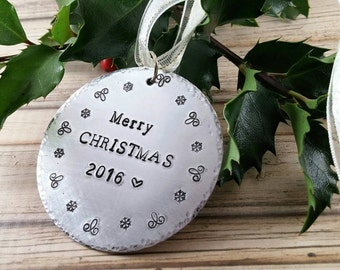 Family Christmas Gifts~ Stocking Stuffer~ Christmas Ornaments~ Custom Christmas~ Tree Ornament~ Christmas 2016~ Xmas Ornaments