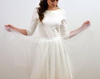"""Tüllrock """"Madeleine"""" Braut weiß,Petticoat,Satin"""
