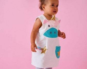 Unicorn costume play dress up pinafore by Wild Things