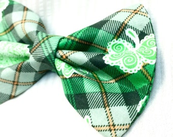 Shamrock St. Patricks's Day Bow Tie for Dogs