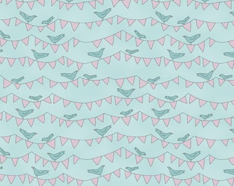 ON SALE All Afloat Birds And Banners By Natalie Bird For Clothworks