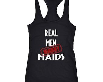 Maids Racerback Tank Top T-Shirt. Funny Maids Tank.