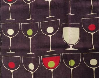 Vintage 50's Graphic Dish Towel