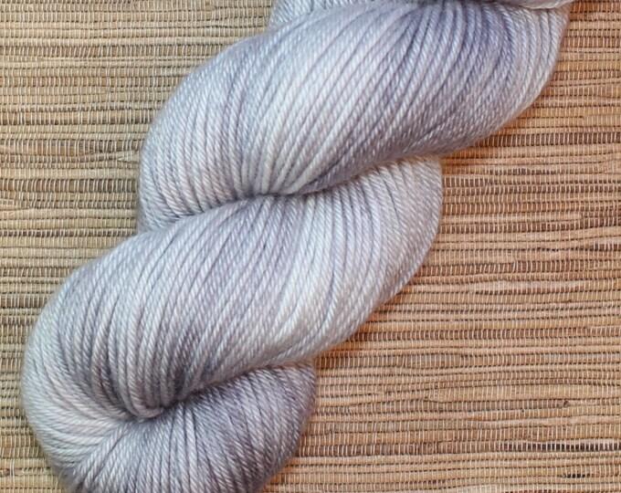 Hand dyed yarn - 115g Fine Superwash Merino -  DK weight (8 ply) in 'Quicksilver'