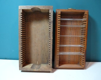 Microscope Slide Wooden Thimble Holder