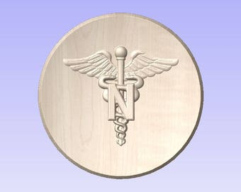 """Army Nurse Corps Plaque 10-11"""" (Your Choice of wood and Design)"""