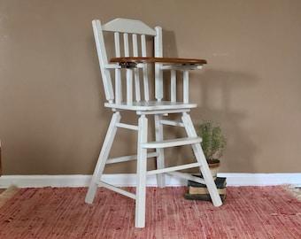 Stunning Vintage High Chair / Childs Photo Prop Chair / Wooden High Chair / Childs Highchair / Jenny Lind High Chair / Highchair Wooden