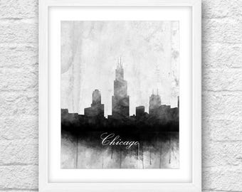 Chicago Bu0026W, Cities Black And White, Chicago Skyline, Chicago Art, Chicago  Wall