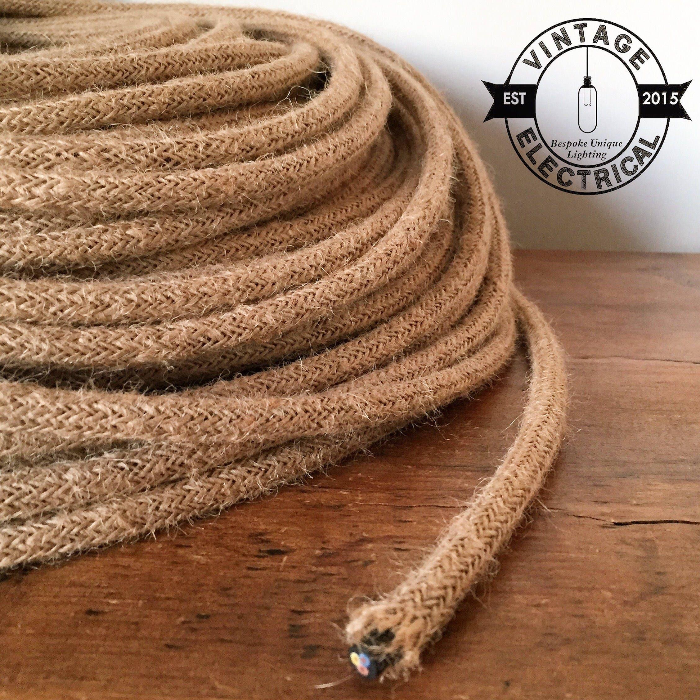 Rope Hemp Round Cable 3x0 75 Cores Vintage Textile Cable