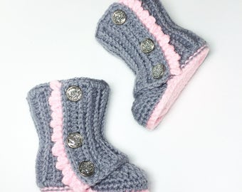 Crochet Baby Wrap Boots
