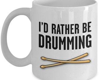 Drumming mug - Funny drummers mug gift - Drummer's coffee cup