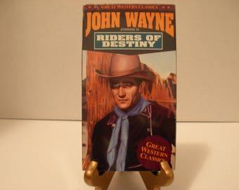 Riders Of Destiny, VHS Tape. SEALED, B &W, John Wayne, Free Shipping
