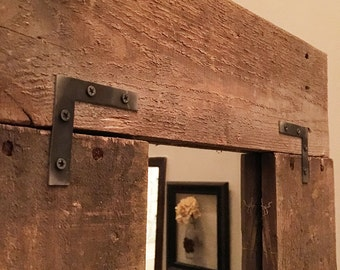 Flat Corner Braces - Industrial Corner Braces - Rustic Flat Corner Brackets