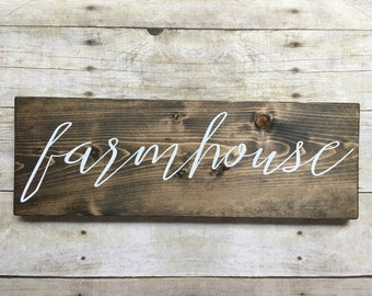 Rustic farmhouse sign, wood farmhouse sign