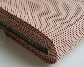 1/2 yard Yuwa Live Life Collection Japan - 816350 - Basic Dots - Color G - Brown Dots on Pink