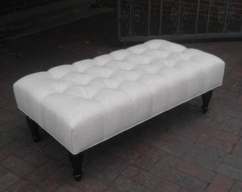 "46"" LARGE Artisan Tufted Upholstered Bench Ottoman~ Design 59 inc"