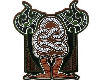 Fridge Magnet-Kundalini Snake- kitchen magnet-Yoga gift- Art Gift- Psychedelic-serpent-Indian art- office magnet-Kitchen Décor