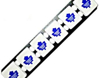 Toronto Maple Leafs bracelet. Toronto Maple Leafs wristband.