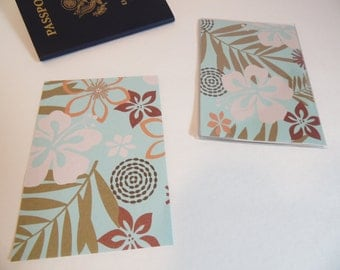 Passport Cover, Island Flowers, Tropical Leaves, Passport  Sleeve, Case