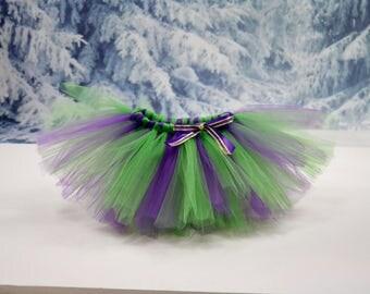 Purple and green tutu. Full tutu. Cake smash tutu. Baby girl tutu. Smash the cake tutu. Birthday tutu. Fully customizable!!!!