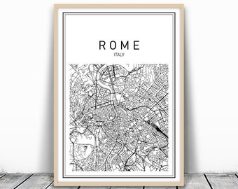 Italy Map Download Etsy - Rome map download