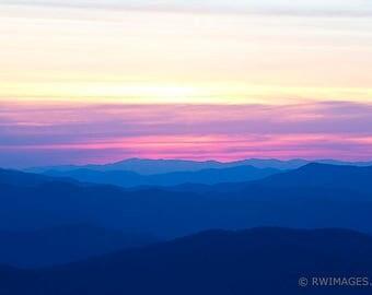 Smoky Mountains Fine Art Photography Color Photo Print (Unframed, Canvas, Framed, Metal or Acrylic) Large Wall Decor Art