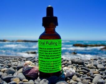 Oral Pulling Oil-Raw & Organic/ Ayurvedic/ Detoxing/ Whitening/ Oral Health Tonic